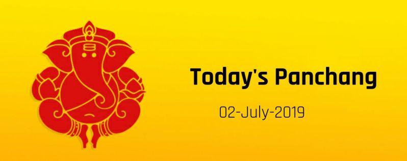 Amavasya July 02, Tuesday - Today panchang showing puja & tithi