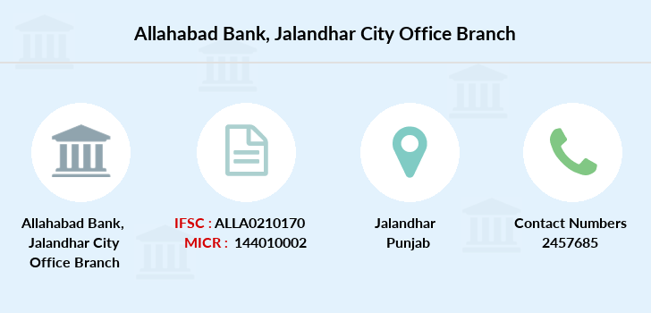 Allahabad-bank Jalandhar-city-office branch
