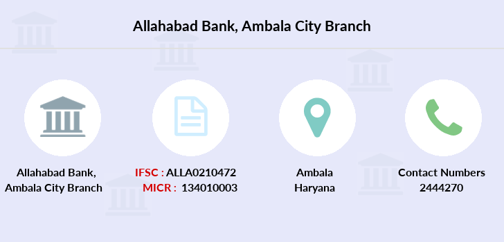 Allahabad-bank Ambala-city branch