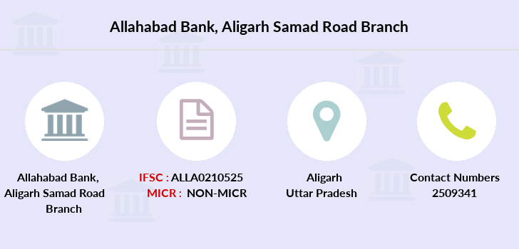 Allahabad-bank Aligarh-samad-road branch