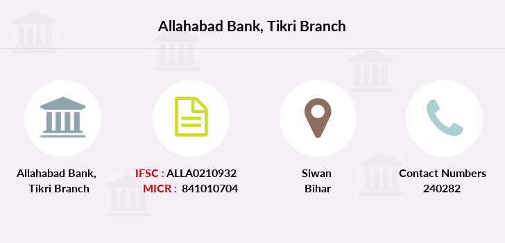 Allahabad-bank Tikri branch