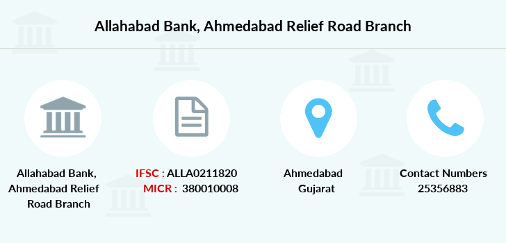 Allahabad-bank Ahmedabad-relief-road branch