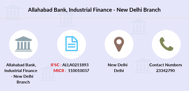 Allahabad-bank Industrial-finance-new-delhi branch