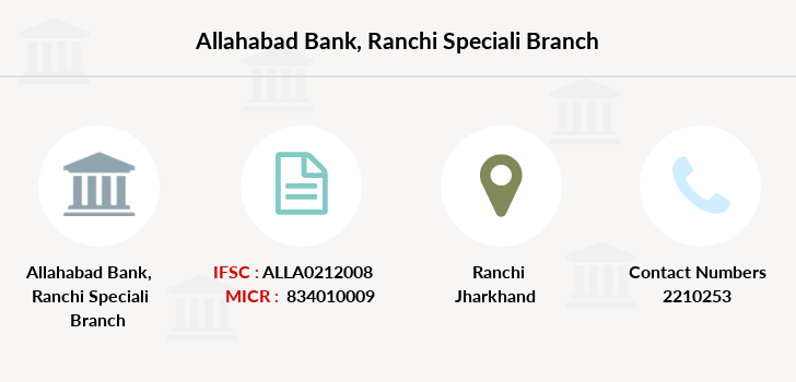 Allahabad-bank Ranchi-speciali branch