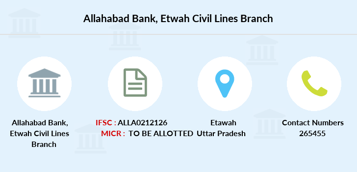 Allahabad-bank Etwah-civil-lines branch