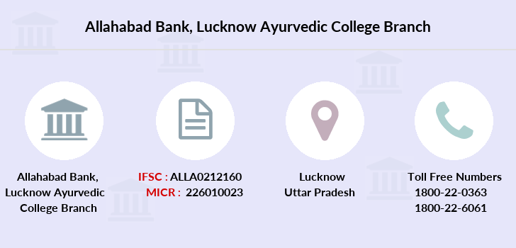Allahabad-bank Lucknow-ayurvedic-college branch
