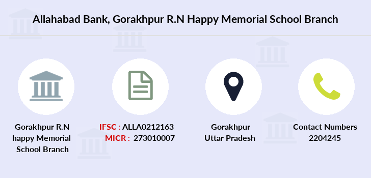 Allahabad-bank Gorakhpur-r-n-happy-memorial-school branch