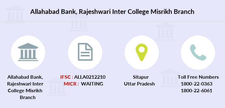 Allahabad-bank Rajeshwari-inter-college-misrikh branch