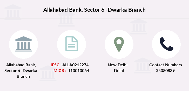 Allahabad-bank Sector-6-dwarka branch