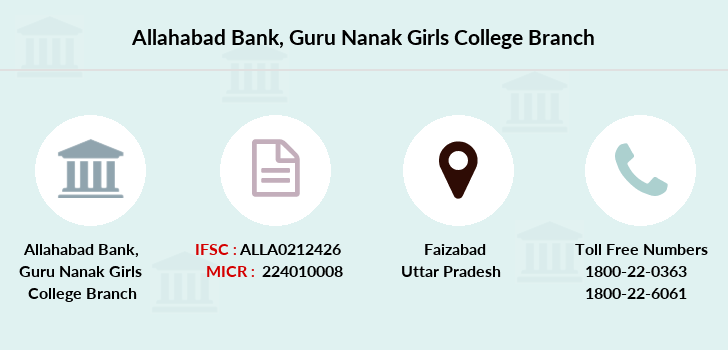 Allahabad-bank Guru-nanak-girls-college branch
