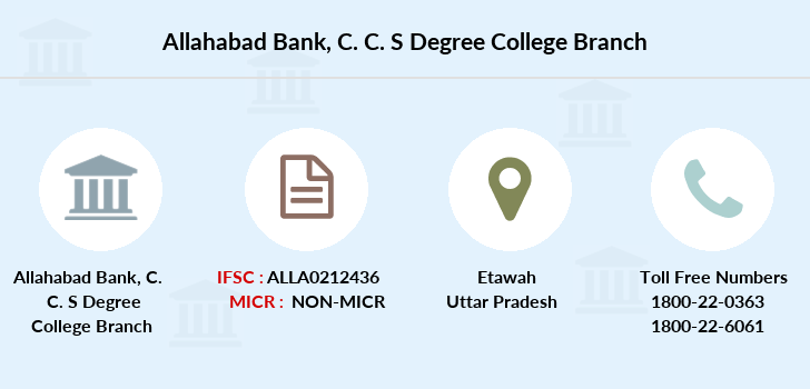 Allahabad-bank C-c-s-degree-college branch