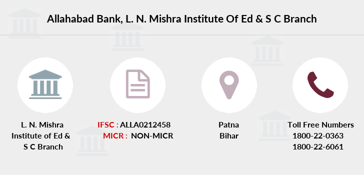 Allahabad-bank L-n-mishra-institute-of-ed-s-c branch