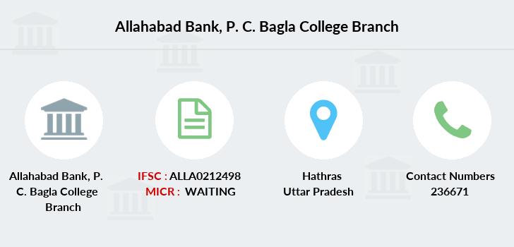 Allahabad-bank P-c-bagla-college branch