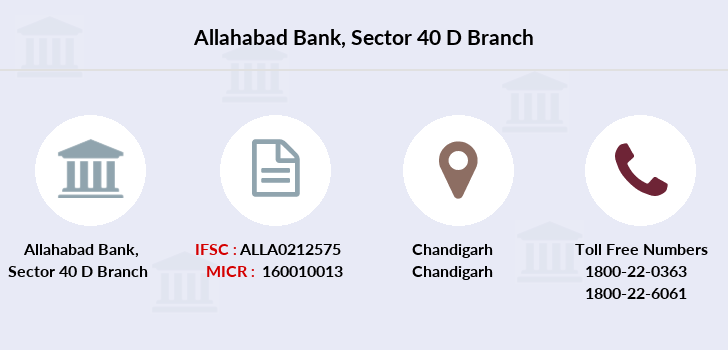 Allahabad-bank Sector-40-d branch