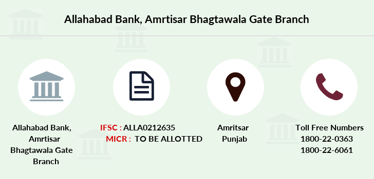 Allahabad-bank Amrtisar-bhagtawala-gate branch