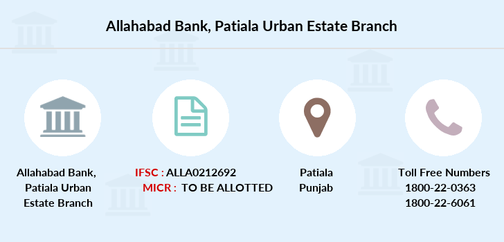 Allahabad-bank Patiala-urban-estate branch