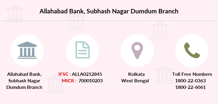 Allahabad-bank Subhash-nagar-dumdum branch