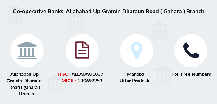 Co-operative-banks Allahabad-up-gramin-dharaun-road-gahara branch