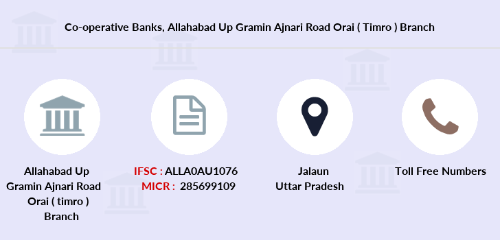 Co-operative-banks Allahabad-up-gramin-ajnari-road-orai-timro branch