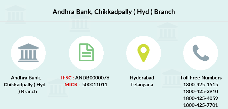 Andhra-bank Chikkadpally-hyd branch