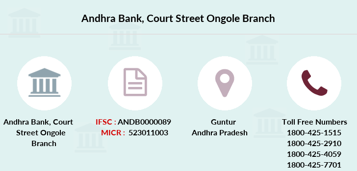 Andhra-bank Court-street-ongole branch