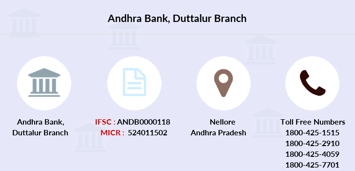 Andhra-bank Duttalur branch