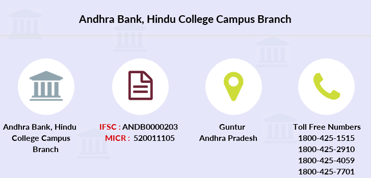 Andhra-bank Hindu-college-campus branch