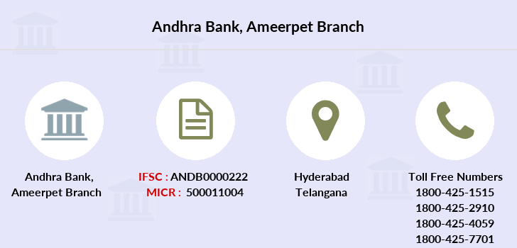 Andhra-bank Ameerpet branch