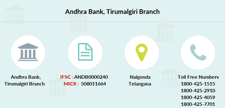 Andhra-bank Tirumalgiri branch