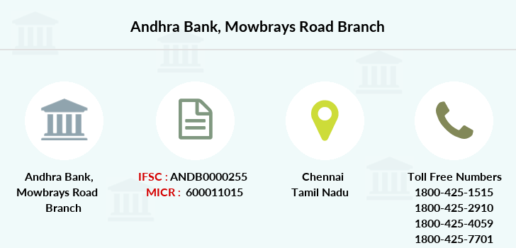 Andhra-bank Mowbrays-road branch