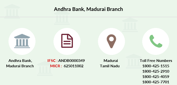 Andhra-bank Madurai branch