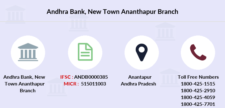 Andhra-bank New-town-ananthapur branch