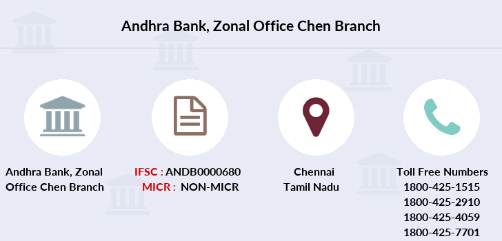 Andhra-bank Zonal-office-chen branch