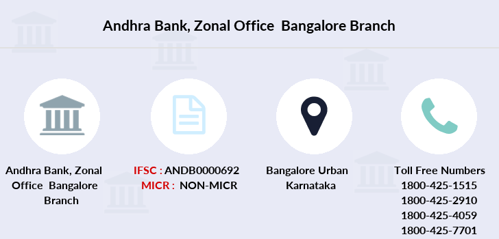 Andhra-bank Zonal-office-bangalore branch