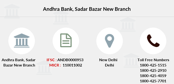 Andhra-bank Sadar-bazar-new branch