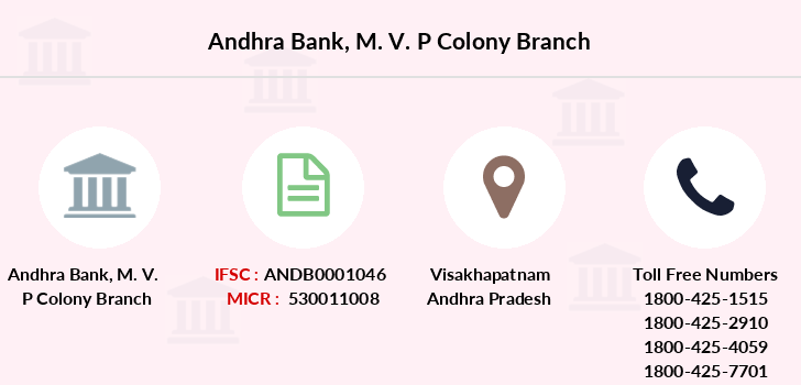 Andhra-bank M-v-p-colony branch