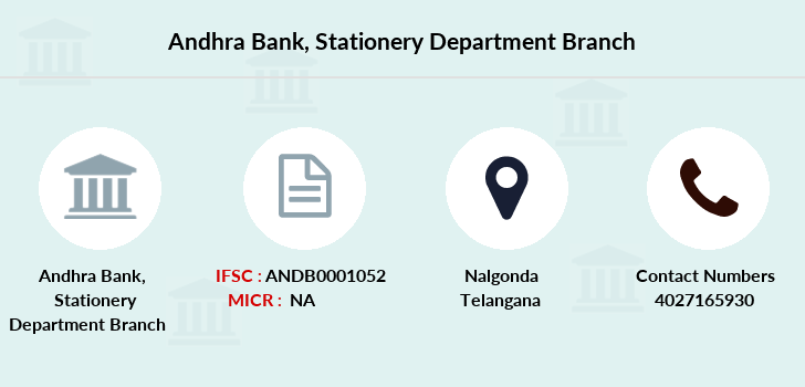 Andhra-bank Stationery-department branch