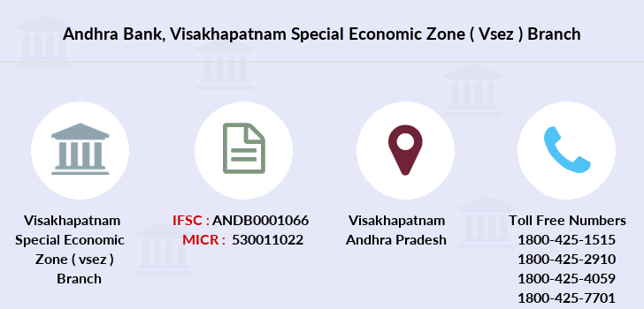Andhra-bank Visakhapatnam-special-economic-zone-vsez branch
