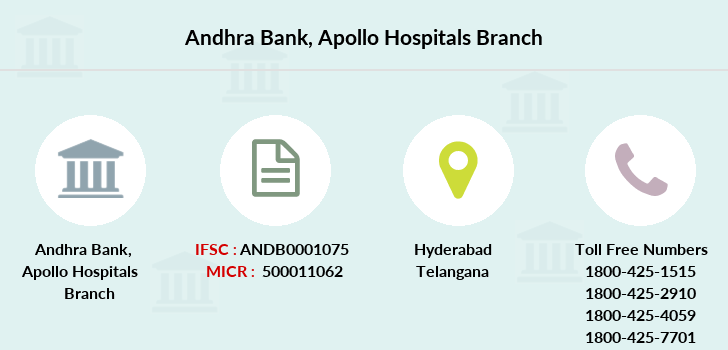 Andhra-bank Apollo-hospitals branch