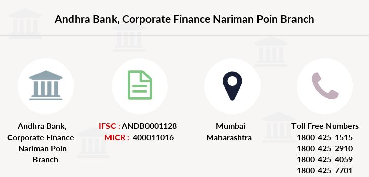 Andhra-bank Corporate-finance-nariman-poin branch