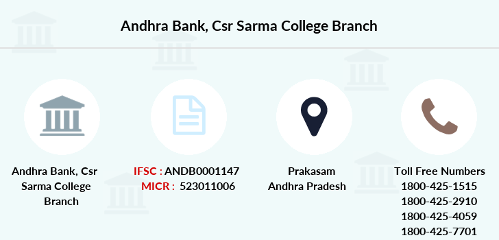 Andhra-bank Csr-sarma-college branch