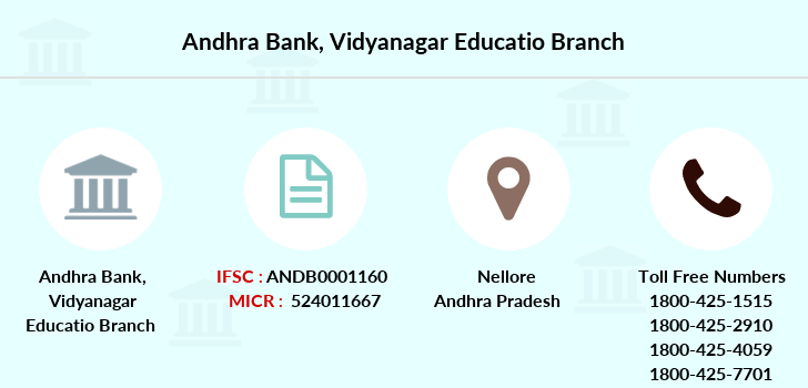 Andhra-bank Vidyanagar-educatio branch