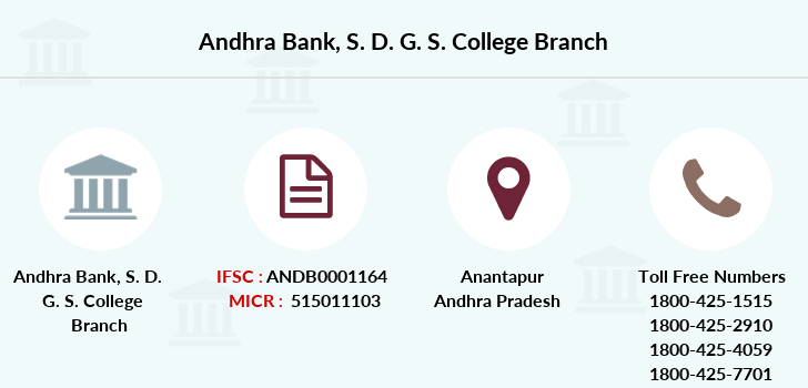 Andhra-bank S-d-g-s-college branch