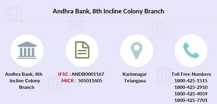 Andhra-bank 8th-incline-colony branch