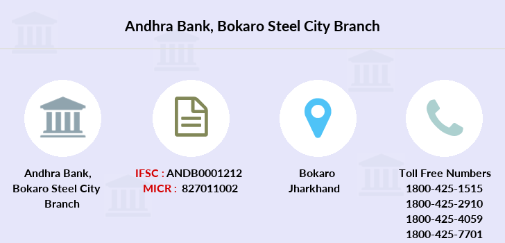Andhra-bank Bokaro-steel-city branch