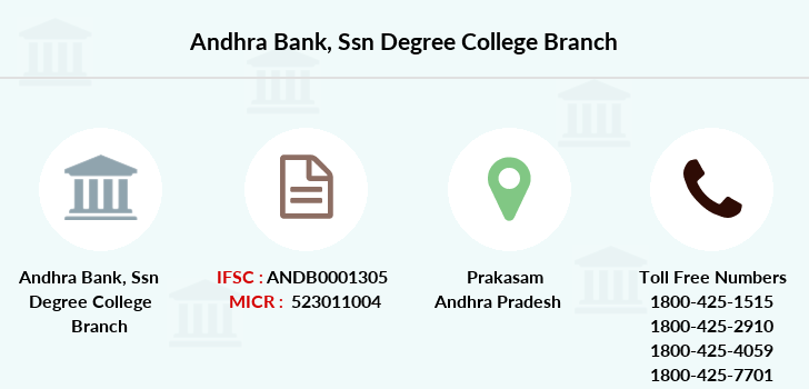 Andhra-bank Ssn-degree-college branch