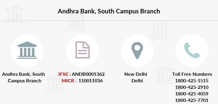 Andhra-bank South-campus branch
