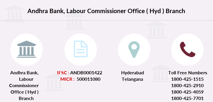 Andhra-bank Labour-commissioner-office-hyd branch