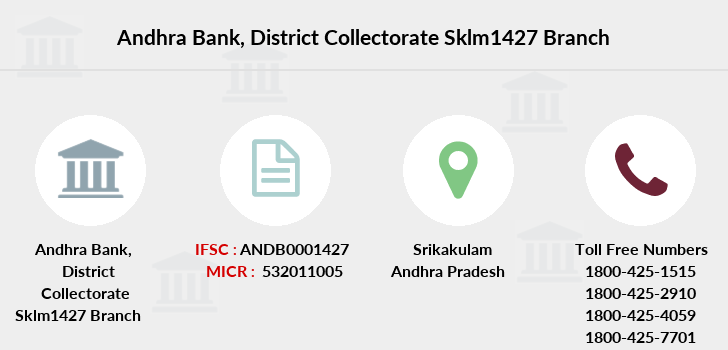 Andhra-bank District-collectorate-sklm1427 branch