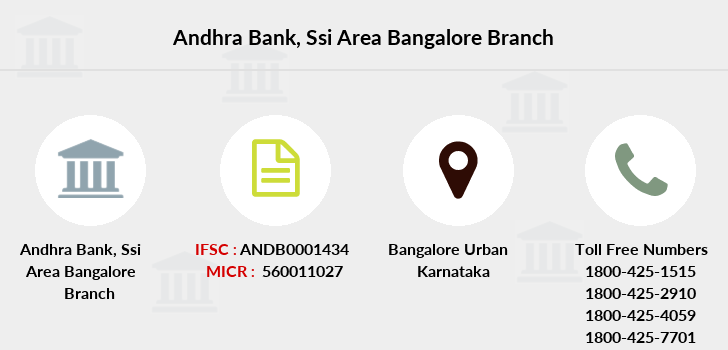 Andhra-bank Ssi-area-bangalore branch